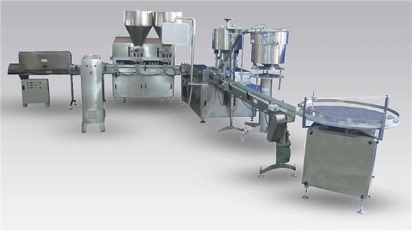 Automatski stroj za punjenje boca s tekućim pivom za zatvaranje i označavanje proizvodne linije
