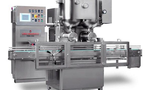 Polutomatski stroj za punjenje džema s dvostrukim glavama